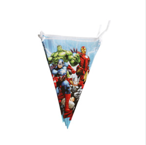 Avengers Marvel Birthday Party Triangle Flag Hanging Banner Decoration Bunting