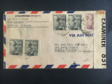 1940 Madrid Spain Cover to Elgin Il Usa Censored