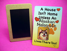 """Alaskan Malamute"" A House Isn't Home - Dog Fridge Magnet - Sku# 35"