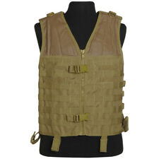Mil-Tec Tactical Military MOLLE Carrier Vest Airsoft Combat Cargo Webbing Coyote