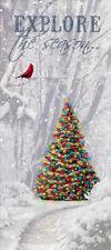 Memories of Christmas Past Tall Glitter - Box of 14 Alan Giana Christmas Cards