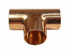 22mm End-feed Tee | Solder Plumbing Fitting For Copper Pipe