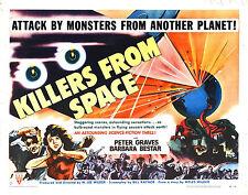 Enmarcado Retro Movie Poster-Asesinos Del Espacio 1954 (réplica películas de impresión de arte)