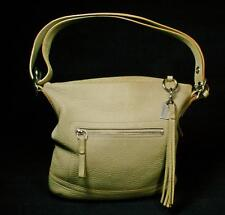 Coach Sand Colored Pebbled Leather Sonoma Crossbody Duffle Shoulder Bag #3796