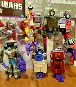 6 Transformers Combiner Wars Menasor w/Deluxe Class Wildrider/Poster/Comics LOT