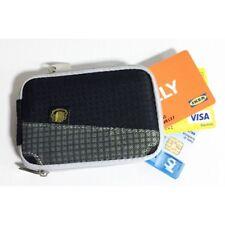 Custodia porta tessere bancomat biglietti da visita monete nera