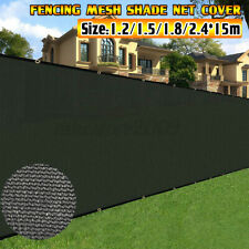50ft Privacy Screen Fence Heavy Duty Fencing Mesh Shade Net Cover Wall Backyard