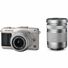 Near Mint! Olympus E-PM2 16MP with 14-42mm + 40-150mm Silver - 1 year warranty