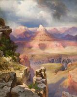 The Grand Canyon Thomas Moran Fine Art Print on Canvas Repro Giclee Small 8x10
