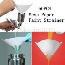 50PCS 100 micron Paint Filter Strainers Nylon Fine Mesh Sieve Conical Paper Net