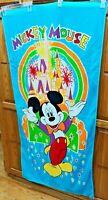 VINTAGE Franco Disney MICKEY MOUSE Iconic Graphic Beach Bath Towel 30X60