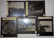 LOT de 5 ANCIENNES PLAQUES PHOTOS VERRE POSITIF COMPIEGNE, CALAIS, COLOGNE, 1950