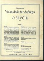O. SEVCIK - Violinschule für Anfänger Heft 1