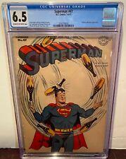 SUPERMAN #47 JULY 1947 GOLDEN AGE CGC GRADED 6.5 FINE STUNNING