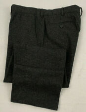"POLO RALPH LAUREN charcoal gray flannel wool blend trousers pants 38 38"" x 30.5"""