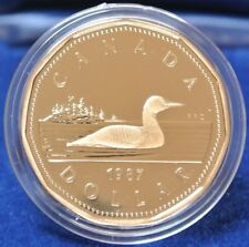 1987 CANADA SPECIAL PROOF EDITION $1 DOLLAR - First Year of Issue w/Case COA