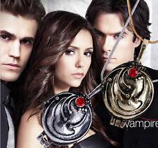 The Vampire Diaries Elena Nina Verbena Pendant Necklace Antique Silver Grey