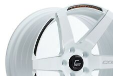 Cosmis S1 18x9.5 +15 5x114.3 White Civic RSX TSX 240sx WRX TL Lancer Mazda 3 TC
