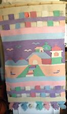 Vintage Hand Woven Wall Hanging 29 X 51, Great Shape, Colors, Southwest Retro