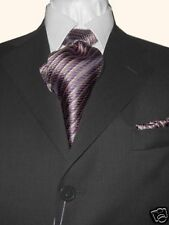 MANZINI ITALY MADE MEN'S SUIT CHARCOAL WOOL 42S 42 S FREE FAST SHIP & TIE SET