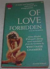 OF LOVE FORBIDDEN Anna Elisabet Weirauch (1958) RARE Vintage Lesbian Paperback