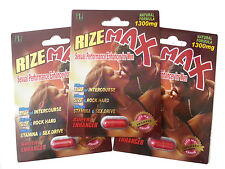 RIZE MAX X3 SEXUAL PERFORMANCE ENHANCER FOR MEN TIME STAMINA SIZE POWER LIBIDO