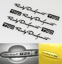 Funny TRD Racing Development Doorknob Car Decal Vinyl Sticker Black