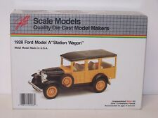 Scale Models 1928 Ford Model A Station Wagon Metal Kit 100% Complete
