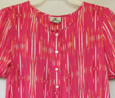 75% OFF! AUTH WORTHINGTON BUTTON-FRONT BLOUSE TOP LARGE BNEW SRP US$19.99