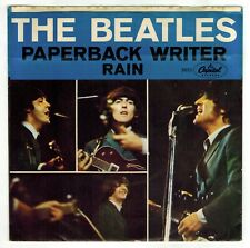 Beatles - Paperback Writer / Rain - record and sleeve - 1966 - Capitol