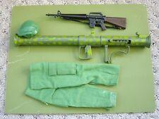 Vintage Gi Joe Green Beret lot with M16, Bazooka and Pants