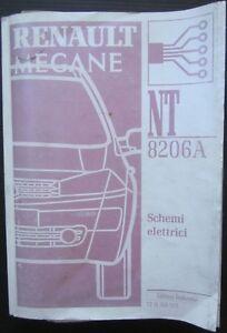 RENAULT MEGANE II 1.4-1.6-2.0-1.5dCi-1.9dCi manuale schemi elettrici 2002