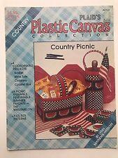Vintage Plastic Canvas Leaflet 8139 Country Picnic Watermelon Print Plaid's Coll