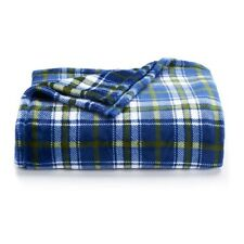 The Big One Supersoft Oversized Plush Throw - Navy Blue Plaid