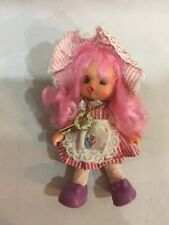 Rosa Cierre 1991 Muñecas Modelo Clásico Polly Bolsillo Pixie En Sus Collar Figurilla Con Juguetes