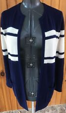 Vineyard Vines Womans XXS Navy And White Cashmere Blend Long Cardigan Sweater