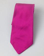 Ralph Lauren Purple Label Silk Tie Pink Solid Shiny Made in Italy New 58 x 3.5