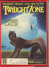 The Twilight Zone Magazine August 1983 Supernatural Cats w/Ml Vg 053116Dbe