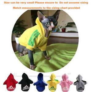 Adidog Dog Hoodie dog warm winter Jumper Pet cat Clothing 4 small dog Pomeranian