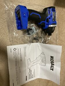 "New Kobalt 324B-03 24v Max 1/4"" Cordless Brushless Impact Driver w/accessories"