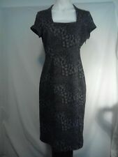 Jane Lamerton Ladies Dress in a Charcoal and Grey Abstract Print Size 12