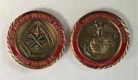 USMC Marine MCRD Parris Island 4th Recruit Battalion Challenge Coin OOH RAH