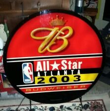 Budweiser NBA Allstar Atlanta  2003 Basketball Light Sign 36""