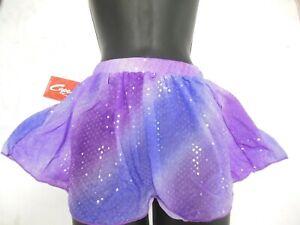 Capezio ballet skirt Plum Lilac Crystal sequin pullup Dance Child sizes