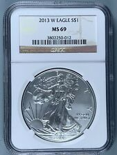 2013-W Silver American Eagle $1 * NGC MS69 * One Ounce * NO RESERVE