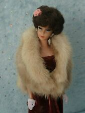 AllforDoll Beige Mink FUR STOLE for 11.5 Silkstone Vintage Barbie Fashion Dolls