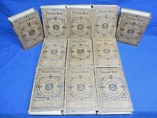 "11 VOLUMES ""DICKENS' WORKS"" 1877-78 HOUSEHOLD EDITION - CHARLES DICKENS, Illust."
