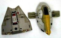 Vintage Star Wars Kenner Die-Cast Snowspeeder + Boba Fett's Slave-1 Ship 1980