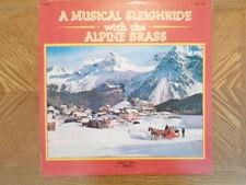AUDIO PHONIC LP RECORD/ALPINE BRASS/MUSICAL SLEIGHRIDE/ XMAS WISCONSIN/VG/VG+