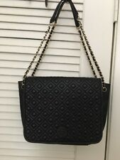 64a98334afcf Auth Tory Burch Marion Quilted Small Flap Shoulder Bag Black